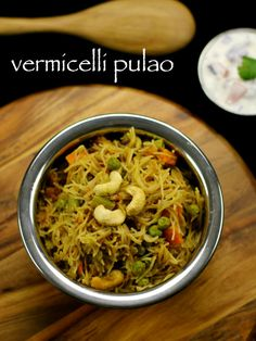 vermicelli pulav recipe, shavige pulav, sevai pulao, semiya pulao recipe is a famous south indian breakfast dish. sevai pulav is a healthy breakfast recipe.