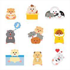 Hamster character design on Behance