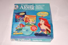 Little Mermaid Read Along Collection CD and 3 Stories / Books Vintage 1990s by nodemo