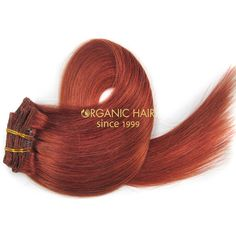 Red hair extensions clip in hairdressers near me #30