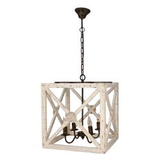 Medallion Square Lantern - Sarah Virginia Home - 1