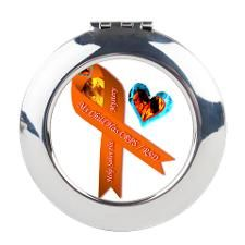My Child Has CRPS FIre Ice He Round Compact Mirror