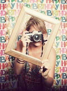 DIY photobooth ideas for beek's wedding  http://chloemoorephotography.blogspot.com/2011/10/birthday-photobooth.html