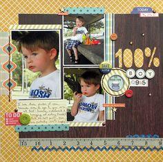 "Ashley Horton Designs: ""Wood"" You?...I ""Wood""! #scrapbook page with woodgrain pattern"