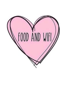 Food plus wifi is love