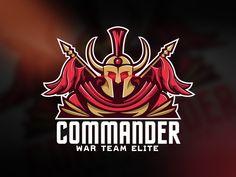 Commander Logo designed by bastrbdz. Connect with them on Dribbble; Viking Logo, Futuristic Fonts, Go Logo, Knight Logo, Brand Names And Logos, Sphinx Cat, Logo Shapes, Esports Logo, Make Your Own Logo