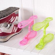 Semplice plastica scarpa rack organizer stand shelf unità di supporto nero luce soggiorno mobili scarpa gancio spedizione gratuita(China (Mainland))