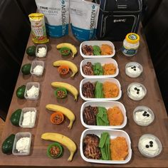 This week's meal prep includes delicous BBQ Asian style chicken, yogurt with berries, and simple to pack and go snacks.