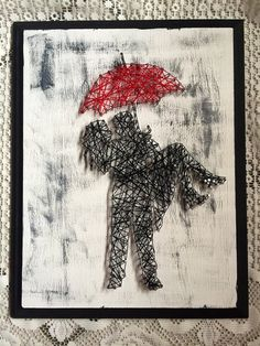 Cantando en la lluvia-cadena arte por Meriluna en Etsy