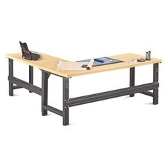 Annex Industrial Adjustable Height L-Desk - 72W - 14328 and more Lifetime Guarantee