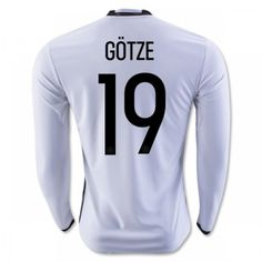 Tyskland 2016 Gotze 19 Hjemmebanetrøje Langærmet.  http://www.fodboldsports.com/tyskland-2016-gotze-19-hjemmebanetroje-langermet-1.  #fodboldtrøjer