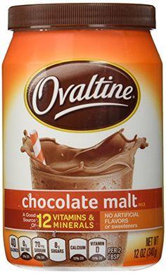 Ovaltine Chocolate Malt 12 oz Ovaltine http://www.amazon.com/dp/B005F26110/ref=cm_sw_r_pi_dp_BxsPwb0F9XYFS
