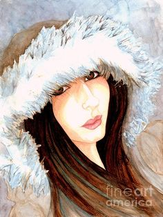 """ Sweet child of mine "". Watercolor portrait by the Artist Janine Riley. FAA"