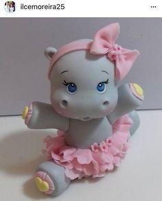 cute hippo clay