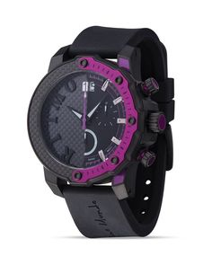 Ritmo Mundo Quantum Iii Collection Stainless Steel and Purple Aluminum Watch, 50mm