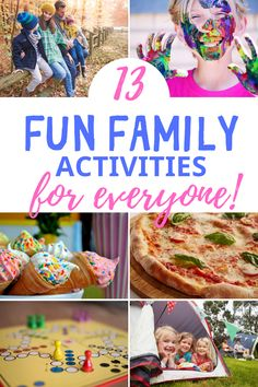 Here are 13 fun family activities at home for everyone and for any night that everyone can agree on. Connect with your family with these frugal activities! Fun family night ideas to make memories today that everyone will LOVE.