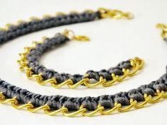 Tutorial fai da te: Realizzare collana catena e uncinetto via DaWanda.com