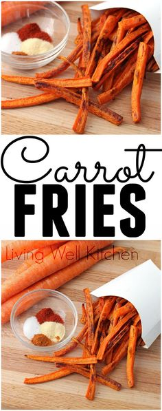You'll happily eat your veggies with these flavorful Carrot Fries. Great side dish or even just a snack!