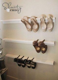 DIY Shoe Rack Ideas On a… Toddler Closet Organization, Closet Storage, Diy Organization, Diy Storage, Storage Ideas, Organizing Ideas, Closet Ideas, Closet Organisation, Closet Drawers