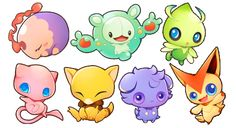 psychic pokemon sticker set - Thumbnail 1