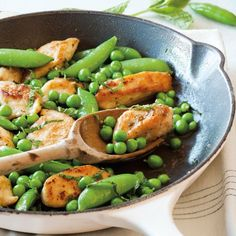 Sautéed Chicken Tenders with Peas and Mint. I love peas. I love mint. I love cheap. I love one pan. I love this recipe. Ps depending on your paleo philosophy, this recipe may be out as peas are a legume, and a no go. Mint Recipes, Summer Recipes, Healthy Recipes, Healthy Meals, Paleo Food, Whole30 Recipes, Protein Recipes, Healthy Food, Crockpot