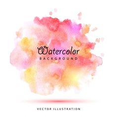 Watercolor stains vector image on VectorStock Watercolor Brushes, Watercolor Texture, Watercolor Background, Abstract Watercolor, Watercolour Tutorials, Illustrator Tutorials, Art Tutorials, Bussiness Card, Color Harmony
