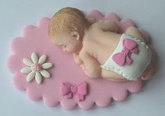 Gateau Baby Shower, Baby Shower Cakes, Baby Boy Shower, Baby Shower Cake Decorations, Fondant Decorations, Fondant Figures Tutorial, Fondant Toppers, Baby Christening Cakes, Moldes Para Baby Shower