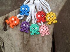 hama bead monster necklace. £2,00, via Etsy.