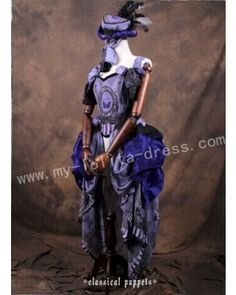 Classic puppet elegant purple lolita op dress, featuring details oriented lace trim and shirried back, creats a very elegant image.