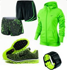 Neon Nike outfit