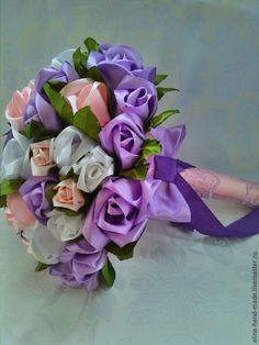Купить Букет невесты - букет невесты, брошь букет, букет дублер, сиреневый цвет, фиолетовый