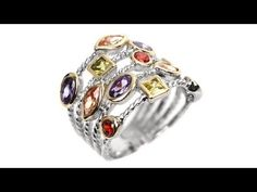 """To buy now click on the link:  http://shrsl.com/?~3fay                                                                   This #Ananda #Multi Color #Confetti #Ring features a sterling #silver #ring dazzled with multiple layers studded with multi colored #stones. Ananda meaning """"Bliss"""" in Buddhism is a #new #line #designed throughout the travels of two yogi lovers."""
