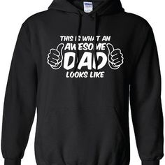 This is What an Awesome dad Looks Like Funny Fathers Day Christmas Gift The Beast hoodie hooded sweater sweatshirt Mens Womens Kids ML-144H