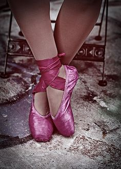 pink pointe shoes FYI when coloring pointe shoes use sharpe not spray paint