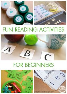Incorporating fun reading activities for beginners! Learning to read doesn't have to be such a chore - it can be fun!
