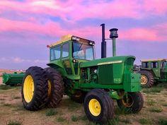 4620 John Deere Old John Deere Tractors, Jd Tractors, Antique Tractors, Vintage Tractors, Mean Green, Rubber Tires, Farm Life, Agriculture, Farmer