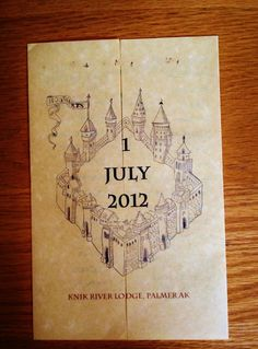 Harry Potter wedding program
