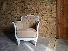 shabby chic stílusú barokk bútor, fotel Vintage Shabby Chic, Wabi Sabi, Rustic Furniture, Vintage Designs, Accent Chairs, Armchair, Projects To Try, Sweet Home, Retro