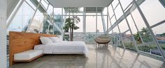 An epic bedroom in Jakarta for those unconcerned with privacy.