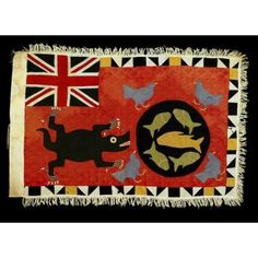 Collections | National Museum of African Art Maker: Kweku Kakanu  born ca. 1910  Fante peoples  Asafo flag  (frankaa) Date: ca. 1935 Medium: Commercial cotton cloth