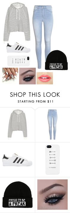 """Untitled #81"" by roseweasleyisawesome ❤ liked on Polyvore featuring H&M, adidas Originals and Fiebiger"