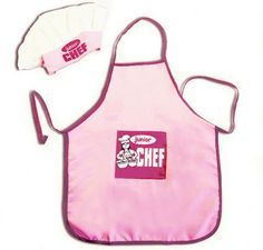 Is there a budding Emeril or Martha in your family? Encourage their cooking skills with this junior chef hat and apron. The elastic band on the hat guarantees a snug but comfortable fit.