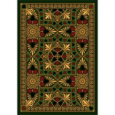 The Conestoga Trading Co. Green Area Rug Rug Size:
