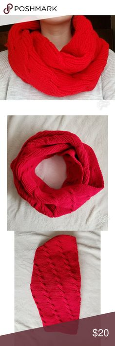 Handmade Red Scarf Sale!!!!! Warm handmade red scarf. Made of Red Heart Super Saver Yarn and 100% Acrylic Handmade Accessories Scarves & Wraps