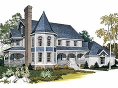 Queen Anne House Plan with 3410 Square Feet and 4 Bedrooms from Dream Home Source | House Plan Code DHSW01983. maybe.