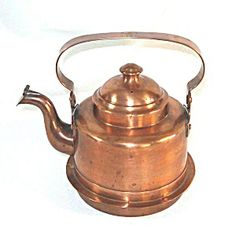 Grillby 3 Cup Swedish Copper Cook Stove Tea Kettle Pre 1930s