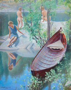 "lilacsinthedooryard: "" Pekka Halonen (Finland,1865-1933) Summer Idyll, 1931 """
