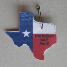 texas flag swaps on white shrink plastic hat traders