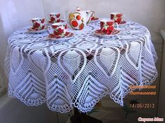 Скатерть Крючком для начинающих - 2016 / Tablecloth Crochet for Beginners / Tischdecke Crochet - YouTube