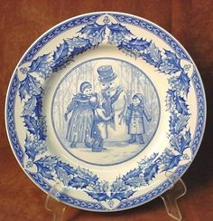 Lovely Melville B&s Large Blue And White Tureen 1840-1900 Adams Pottery